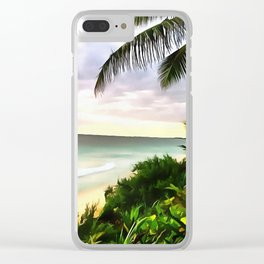 Tulum Clear iPhone Case