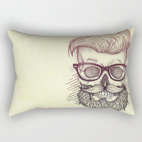 Hipster is Dead Rectangular Pillow