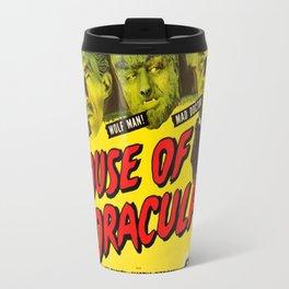 House of Dracula, vintage horror movie poster Travel Mug