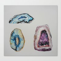 geode Canvas Prints featuring Geode by GEORGIA TURNER