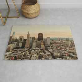 Vintage San Francisco Cityscape (Color) Rug