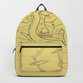 Here There Be Monsters Backpack