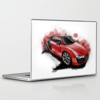 audi Laptop & iPad Skins featuring R8 V10 by an.artwrok