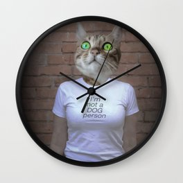 I'm not a dog person! Wall Clock
