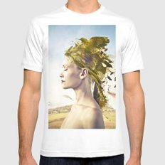 Beauty in nature White Mens Fitted Tee MEDIUM