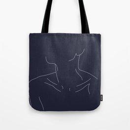 Woman's neckline illustration - Ali Blue Tote Bag