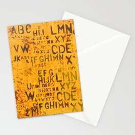 Letters for Jay (Yellow Abstract) Stationery Cards