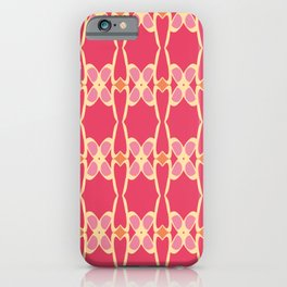Cute Feminine Lattice Pattern iPhone Case