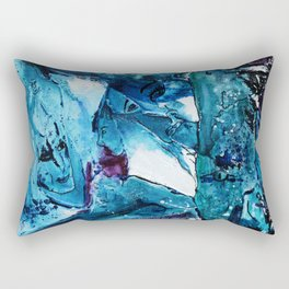 Faces in blue Rectangular Pillow