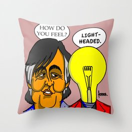 Stephen Fry and friend  Throw Pillow