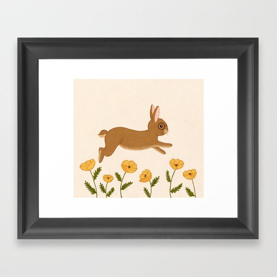 golden leap Framed Art Print