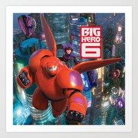 big hero 6 Art Prints featuring Big Hero 6  by store2u