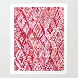 Red BRIGHT LIKE A DIAMOND Moroccan Print Art Print
