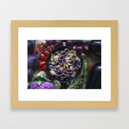 Nightshaded pasta ingredients Framed Art Print