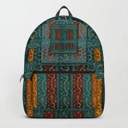 """Blue vintage textile patches"" Backpack"