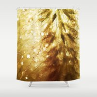 champagne Shower Curtains featuring Champagne by Rosemary Danielis