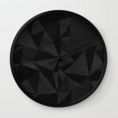 Dirty Dark Geo Wall Clock