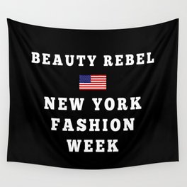 Beauty Rebel NYFW Tote (Black) Wall Tapestry