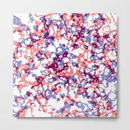 broken, red and blue Metal Print