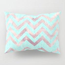 Turquoise blush pink purple geometrical chevron Pillow Sham