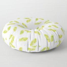 Hand painted green watercolor oak leaves pattern Floor Pillow