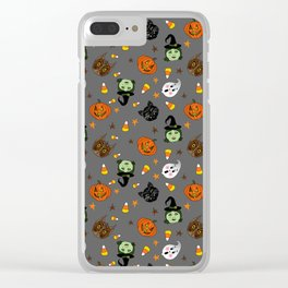 Halloween Spooks Clear iPhone Case