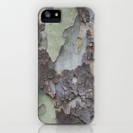 sycamore bark with a green tinge iPhone Case