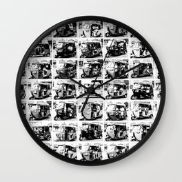 Sri Lankan Tuc Tuc collage Wall Clock