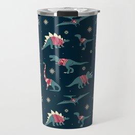 Dinos In Sweaters Travel Mug