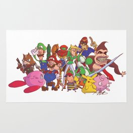 Super Smash Bros Rug