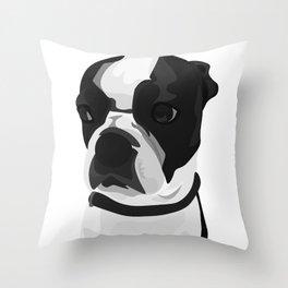 Tucker the Boston Terrier Throw Pillow