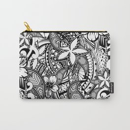 Hawaiian Polynesian Trbal Tatoo Print Carry-All Pouch