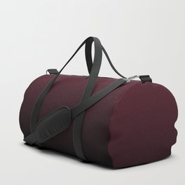 Burgundy Wine Ombre Gradient Duffle Bag