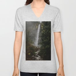 Latourell Falls, Oregon Unisex V-Neck