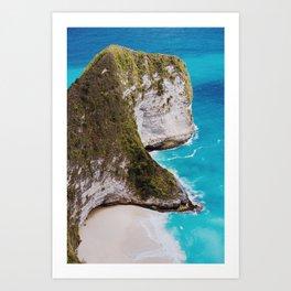 Kelingking Beach Art Print