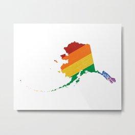 Alaska Pride Metal Print