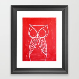 No. 008 - Modern Kids and Nursery Art - The Owl Framed Art Print
