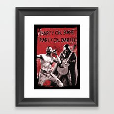 Party on, Bane Framed Art Print