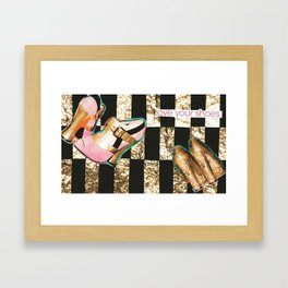 I Love Your Shoes. Framed Art Print
