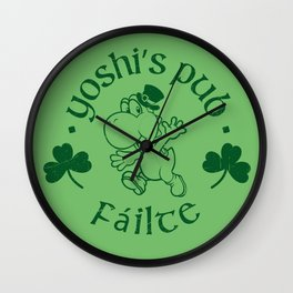 Yoshi's Pub Wall Clock