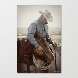 Cowboy Affection Canvas Print