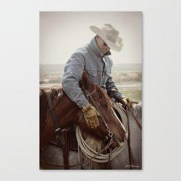 Cowboy Affection Canvas Print