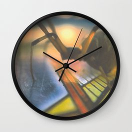 Spider on Card Wall Clock
