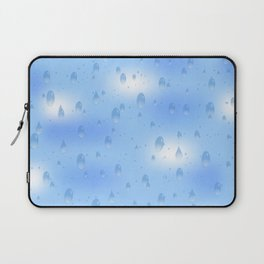 Water dops with sky background Laptop Sleeve