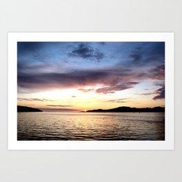BC Sunset  Art Print