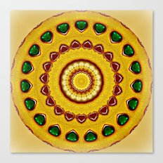 Golden Jewel with Emerald stones  Canvas Print