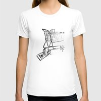 shopping T-shirts featuring Shopping Cart by Brontosaurus