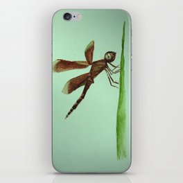 Mosquito on blade of grass iPhone Skin