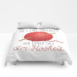 Do I Like Crochet? You Could Say I'm Hooked     Red Comforters