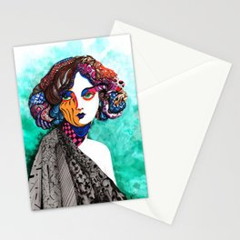"""""""When the muse come to visit"""" Stationery Cards"""